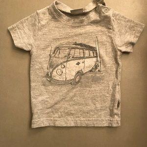 WHEAT VW Bus T-Shirt; 6 month
